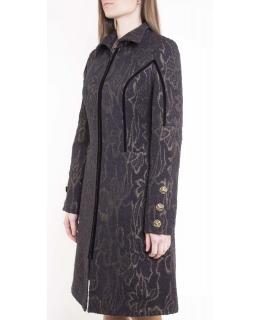Пальто из текстиля, цвет: Золотой - купить за 4000 в магазине - Гипермаркет меха
