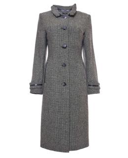 Пальто из шерсти, цвет: Олива, отделка Кожа - купить за 3600 в магазине - Гипермаркет меха