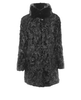 Полупальто из каракуля, цвет: Чёрный, отделка Норка - купить за 105200 в магазине - Гипермаркет меха