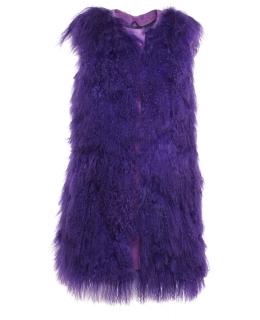 Жилет из меха ламы, цвет: Фиолетовый - купить за 14900 в магазине - Гипермаркет меха