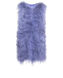 Жилет из меха ламы, цвет: Голубой - купить за 14900 в магазине - Гипермаркет меха