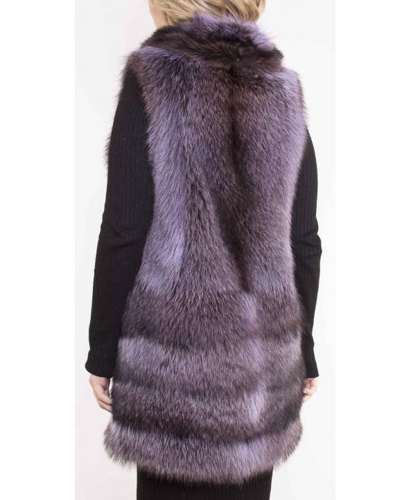 Жилет из меха енота, цвет: Пепельный - купить за 44000 в магазине - Гипермаркет меха