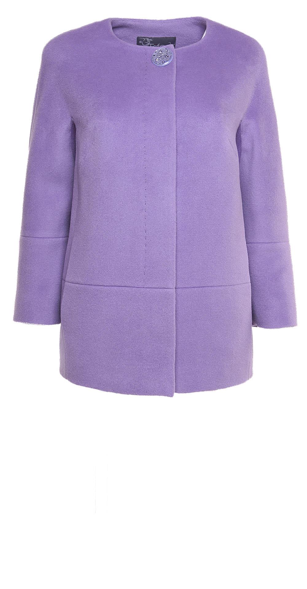 Пальто из шерсти, цвет: Лиловый - купить за 11900 в магазине - Гипермаркет меха